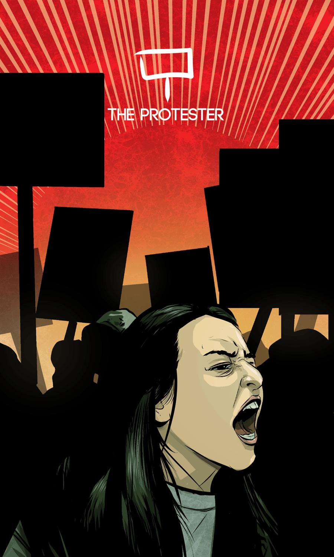 Arte - The Protester - Os Quarenta Servidores de Tommie Kelly - Magia do Caos