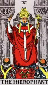 Carta de Tarot – O Hierofante – The Hierophant
