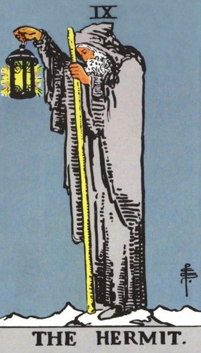 Arte - O Eremita - Arcano Maior 9 - Magia do Caos