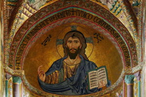 Christ Pantocrator Cathedral of Cefal Italy