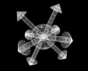 Estrela do Caos 3d em projeto de linhas