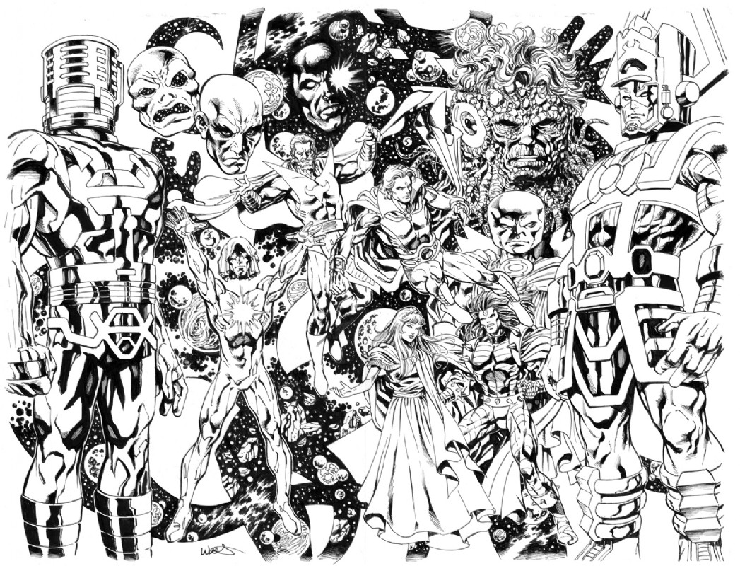 Imagem: Adam Warlock and Cosmic Entities