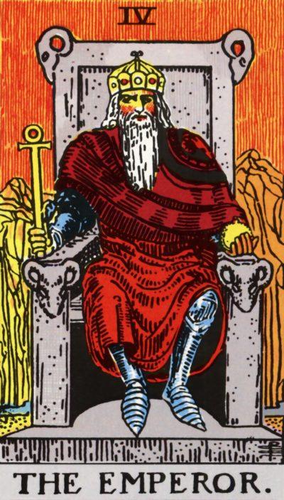 Arte - O Imperador - Arcano Maior 4 - Servidor Servo Público - Magia do Caos