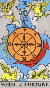 Carta de Tarot – A Roda da Fortuna – Wheel of Fortune