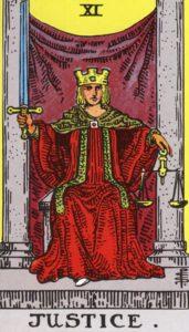 Carta de Tarot – A Justiça – The Justice