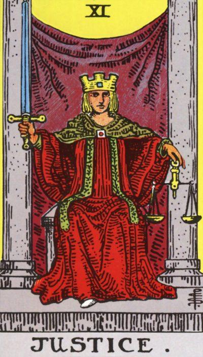 Arte - A Justiça - Arcano Maior 11 - Magia do Caos