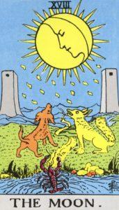Carta de Tarot – A Lua – The Moon