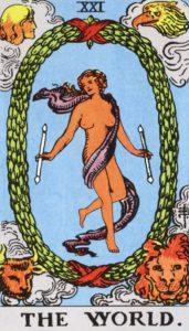 Carta de Tarot – O Mundo – The World