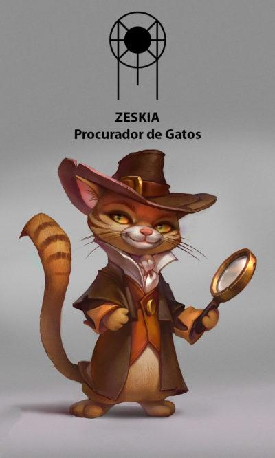 Arte ZesKia Procurador de Gatos Servidores Servo Publico Caotize-se Magia do Caos