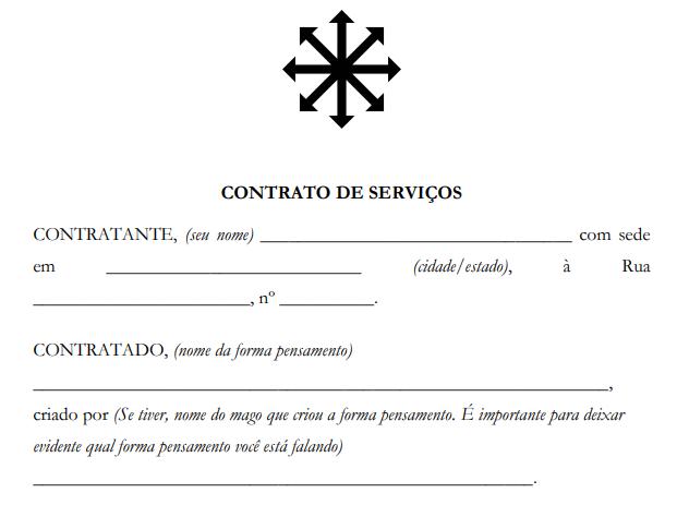 Contrato padrão completo para contratação de servos astrais – PDF