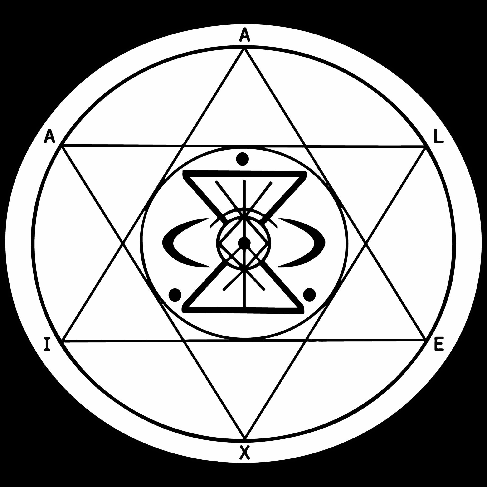 Sigilo - Alexia – Elimina ansiedade e depressão – Servo Astral - Magia do Caos