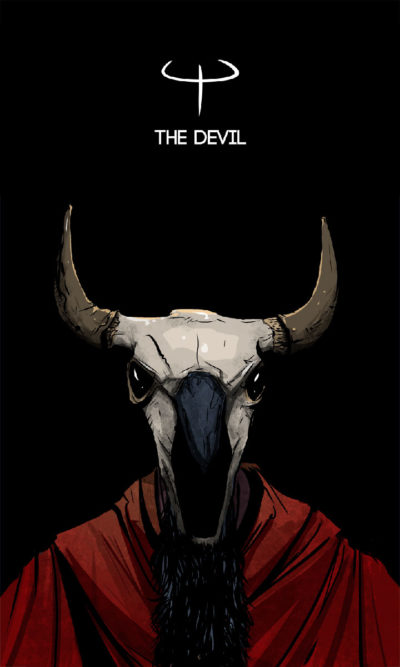 Arte - The Devil - Os Quarenta Servidores de Tommie Kelly - Magia do Caos