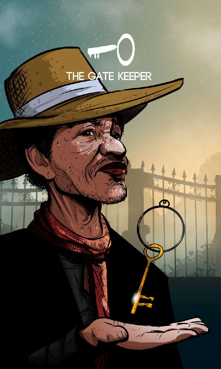 Arte - The Gate Keeper - Os Quarenta Servidores de Tommie Kelly - Magia do Caos