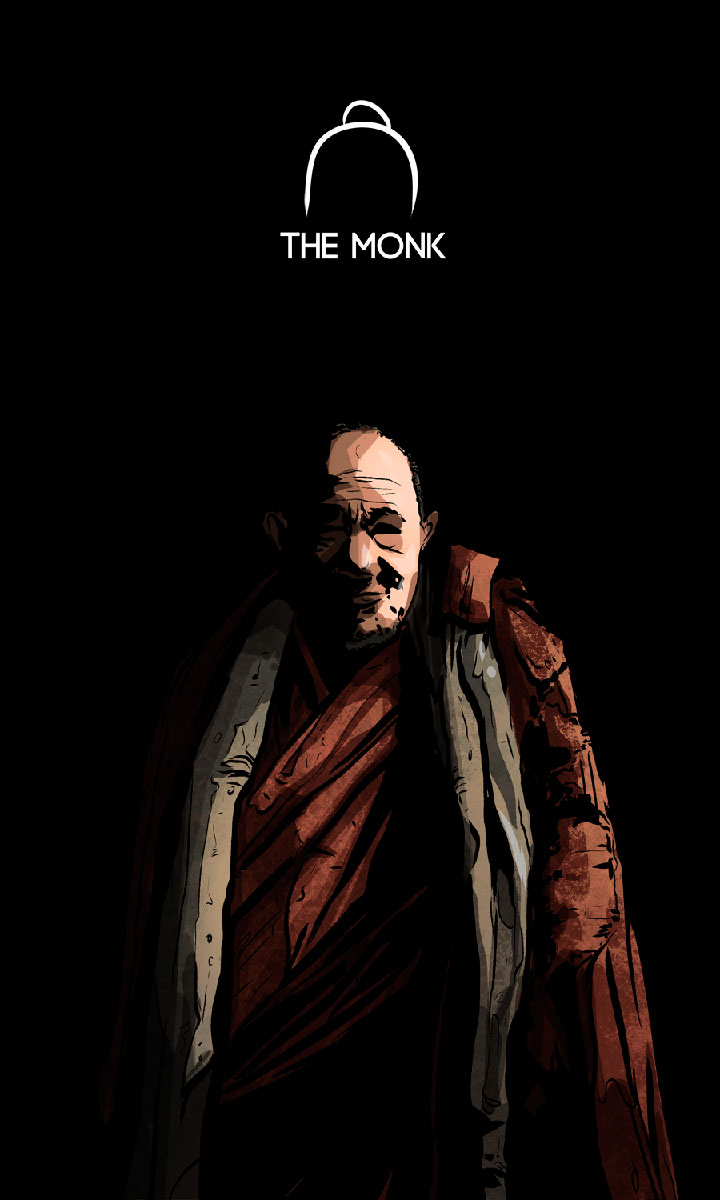 Arte - The Monk - Os Quarenta Servidores de Tommie Kelly - Magia do Caos