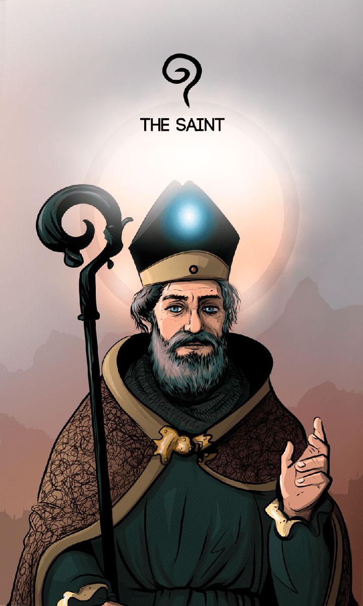 Arte - The Saint - Os Quarenta Servidores de Tommie Kelly - Magia do Caos