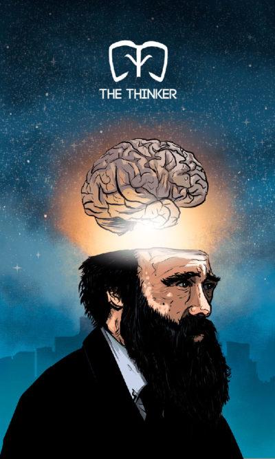 Arte - The Thinker - Os Quarenta Servidores de Tommie Kelly - Magia do Caos